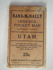 New Listing1915 Rand-McNally Utah Indexed Pocket map and shipper's guide; complete