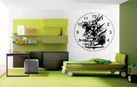 Wall Vinyl Sticker Decals Mural Room Design Alice In Wonderland Rabbit  bo1646