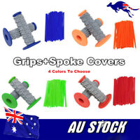 4Colors Motorcycle Motocross Rubber Hand grips Spoke Wraps Cover Dirtbike Enduro