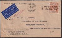 1935 OHMS cover to Inspector of Aerodromes Darwin
