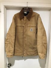 Men/'s 2XL 90s Canvas Jacket 90s Tan Canvas Work Jacket with Quilted Lining