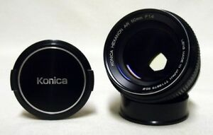 KONICA Hexanon AR f/1.4 50mm Prime Lens SLR Film Camera DSLR Sony Micro w/Caps