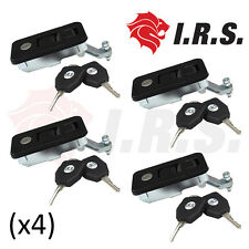 Compression Pop' Lock / Handle - Small Black x4.  Tool Boxes, Trailer Canopies