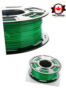 3D Printer Filament PLA 1.75mm with Shiny and Bright Surface 1kg Spool Green