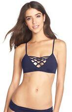 L Space 'Jaime' Crisscross Bikini Top ONLY Navy Blue Size D Cup
