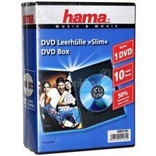 HAMA Custodie DVD Slim Case SINGOLE Nere 1 posto 7mm, confezione 10 pz - H51181