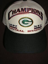 NEW Green Bay Packers CHAMPIONS 1997 NFC CENTRAL DIVISION  Hat CAP SNAP BACK