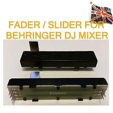 Fader CURSORE PER BEHRINGER DJ MIXER RICAMBIO STEREO Unità B100K x 2 DOPPIO 72mm