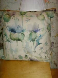 MADE IN VOYAGE  THISTLE PRINT  FABRIC BEIGE WATERCOLOUR  CUSHION COVER 16in Pad