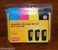 Canon BCI-24 Compatible SIC-60BC3 (596572) 3 Color InkJet Cartridges **NEW**