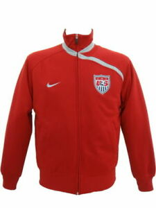NIKE USA RED RETRO VINTAGE TRACKSUIT TOP CASUAL FOOTBALL TRAINING JACKET NEW