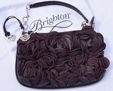 Brighton Leather Velvet Rose Handbag / Purple Eggplant / Excellent Condition