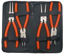 Internal external circlip pliers set 4-piece 225 mm long Welzh Werkzeug 41113-WW