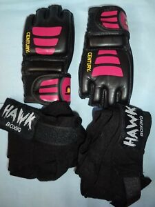 Women's Kick Boxing Gloves with Wrist Wrap Size S/M