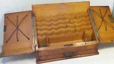 Antique Oak Stationery Box