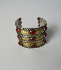 Vintage central Asian  silver gilt Cuff bracelet