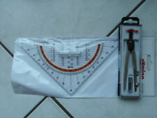 2 Teile Rotring Compact Universal Zirkel + Rotring Centro Geodreieck mit Griff