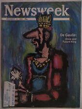 Newsweek Magazine December 13,1965  De Gaulle  VINTAGE ADS Ku Klux Klan