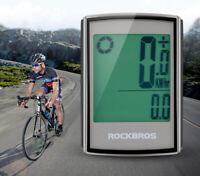 Waterproof Bicycle Computer Speedometer Wireless LCD Cycling Stopwatch Bike MTB