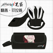 Anime DARLING in the FRANXX Cosplay Pencil Case Pen Bag Storage Box Stationery