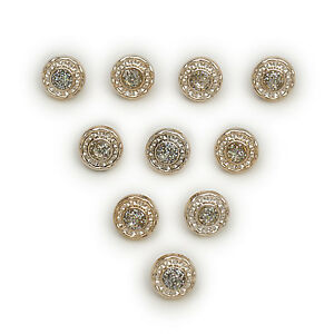 50pcs Gold Round Shank Resin Buttons Sewing Scrapbooking Home Decor 13mm