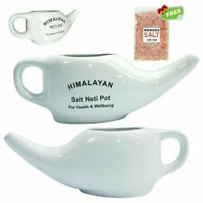 Neti Salt Ceramic Neti Pot 200g Organic Nasal Spray. Jala,Yoga,Sinus Health