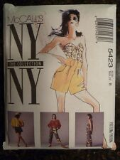 McCall's 5423 NY The Collection Original 1991 Retro Style Pattern size 8 Cut