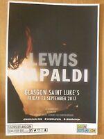 Lewis Capaldi - Glasgow sept.2017 live music show memorabilia concert gig poster