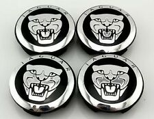 4x black Wheel Center Hub Caps 59 mm Jaguar XJ/XJR/XF/X/S Type
