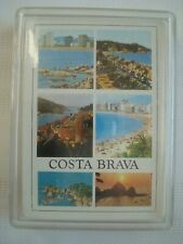 Costa Brava Deck of Playing Cards Sealed in Plastic Case Souvenir Gift Spain