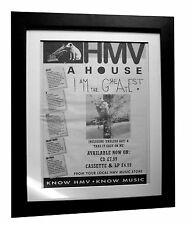 A HOUSE+I Am Greatest+POSTER+AD+ORIGINAL 1992+QUALITY FRAMED+EXPRESS GLOBAL SHIP