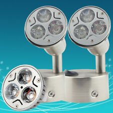 2X 12V DC Warm White Round LED Bed Side Light Reading Wall Bedside Lamp + Switch
