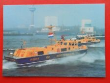 POSTCARD SIDEWALL HOVERCRAFT - FIRE AND RESCUE CRAFT WITH PORT OF ROTTERDAM AUTH