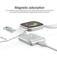 Wireless Charger Fast Charging Pad For Apple Watch iWatch Key Ring Charger