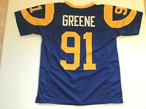 UNSIGNED CUSTOM Sewn Stitched Kevin Greene Blue Jersey - M, L, XL, 2XL