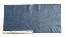 UPHOLSTERY LEATHER PIECE COWHIDE NAVY BLUE LT WT 2 SF