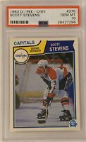 1983 1984 OPC Scott Stevens PSA 10 GEM MINT RC ROOKIE #376 Devils Capitals