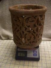 "9"" Antique Roman Greek Rustic Vase Planter Cottage Home Decor Three Clay Cement?"