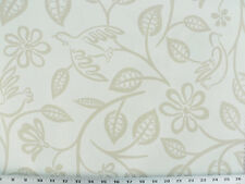 Drapery Upholstery Fabric Modern Printed Cotton Floral/Bird Design - Gray/Beige