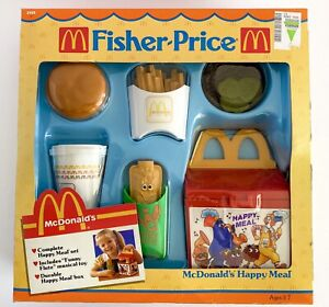 Vtg Fisher Price McDonalds Fun w/ Food Happy Meal Lunch Box 1988 Play Food NRFB