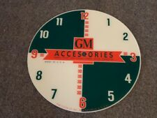 "*NEW* 14.25"" GM GENERAL MOTORS CAR HOT ROD GASOLINE ROUND GLASS clock FACE PAM"