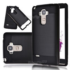 Hybrid Brushed Shockproof Armor Case Cover Skin +Tempered Glass Screen Protector