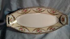 Noritake M Mark Celery Dish - Pink Roses with Gold Swag