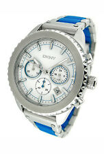 NEW DKNY CHRONOGRAPH TWO TONE 50M LADIES WATCH NY8762