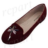 New women's shoes ballerina ballet flats wedding casual Burgundy