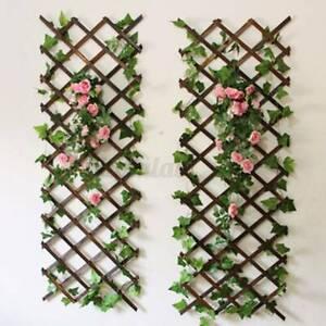Foldable Expanding Wooden Fence for Climbing Vine Plants Garden Home Deco U