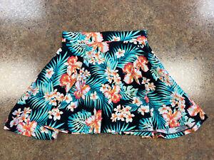 Pink Victoria's Secret Women's Floral design Short Flare comfort stretch skirt S