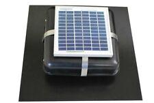 """Solar Roof Vent - Solar Attic Fan - Solar RVOblaster with """"Black"""" Vent"""