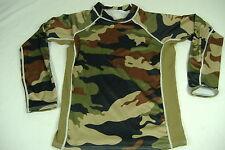 New Kids Boys Girls Medium 6-8 Ocean Tec Camo Green Long Sleeve LS Rashguard