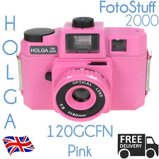 HOLGA 120-GCFN-PK PINK Lomo Medium Format Manual Film Camera Colour Flash UK STK